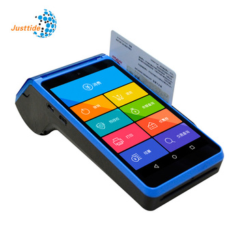Hot sale cheapest Justtide android  handheld pos terminal with thermal printer gps