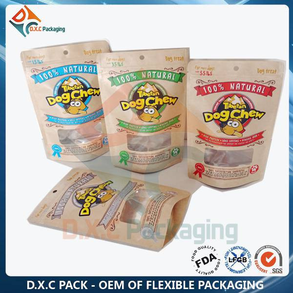 Kraft Paper Doypack With Window (OEM Factory and Free Samples)