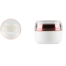 50g White Luxury <strong>glass</strong> <strong>jar</strong> Skin care cosmetic moisturizing cream <strong>jars</strong> with red lid