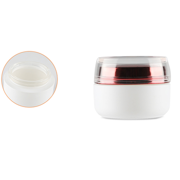 50g White Luxury glass jar Skin care cosmetic moisturizing cream jars with red lid