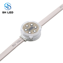 Smart <strong>RGB</strong> 33mm Amusement pixels lights digital smd3535 DC24v Waterproof Holiday Addressable decoration