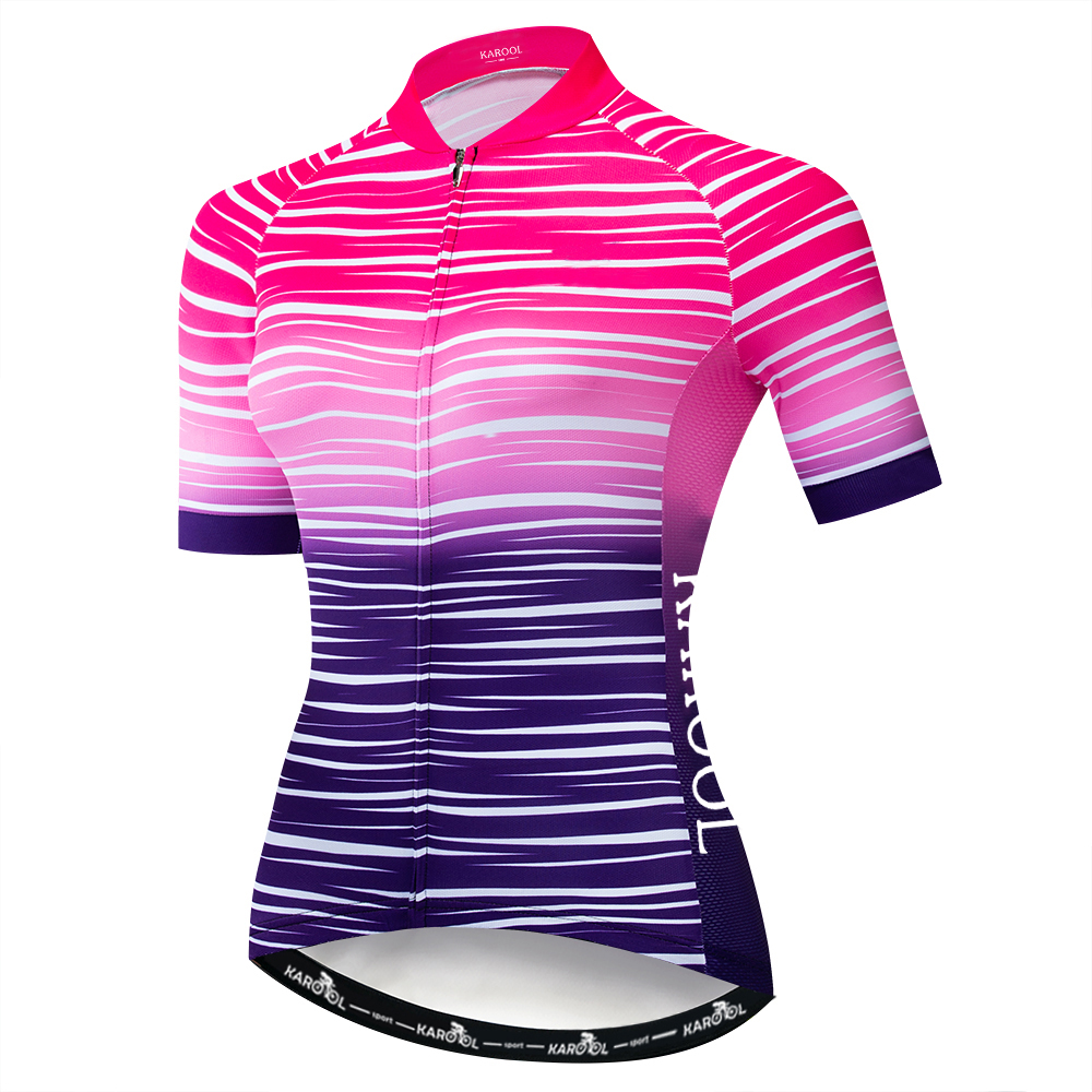 Karool Custom Fashion Pattern Quick Dry Breathable Training Women Biking Jersey Uniform