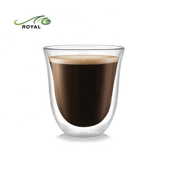 Heat resistant Espresso Latte Cappuccino Double wall Glass Cup