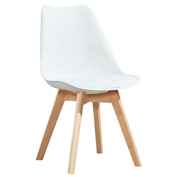 GUYOU Y-4004 PP Seat Beech Wood Leg Chair