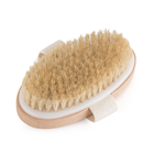 Oval Shape Natural Boar Bristles clean bath wooden brush for Shower