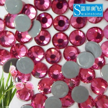 S0807  rose swainstone hot fix ;swainstone hotfix rhinestone,high-end hot fix rhinestone SS10 SS20 SS30 SS40
