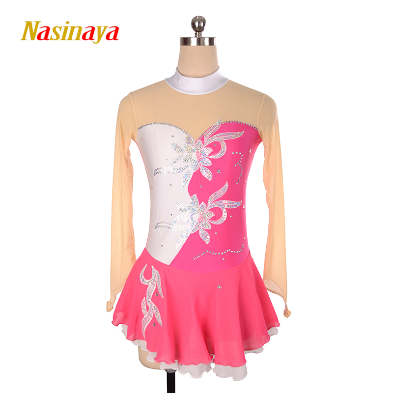 Nasinaya Figure Skating Dress Customized Competition Ice Skating Skirt for Girl Women Kids Patinaje Gymnastics Performance <strong>001</strong>