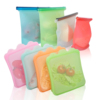 wholesale reusable waterproof silicone food storage bag for Fridge Fruit Liquid Milk Powder Outdoor Travel silicone