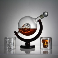 Amazon Hot Selling Globe whiskey Decanter Set,Whisky Decanter Globe With Glasses,Wholesale Factory Price Globe decanter