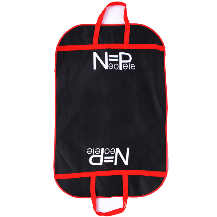 Competitive price luxury style red piping non woven custom garment bag