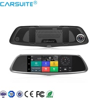 High Quality 7'' Touch Screen Full HD 1080P 4G/3G Super Night Vison 2 Dual Lens Rearview Mirror Camera