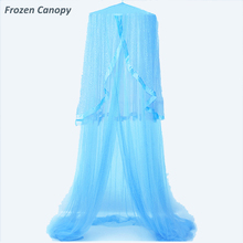 Frozen Canopy Kids Baby Bed Canopy Bedcover Mosquito Net Curtain Bedding Dome <strong>Tent</strong> for Children