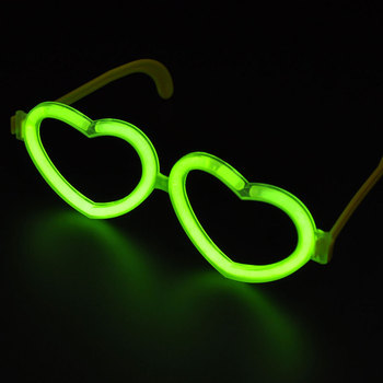 wholesale party heart shaped glow in the dark glasses
