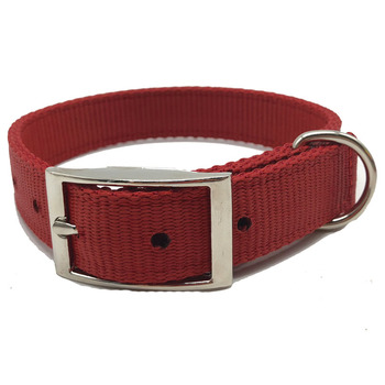 Pet Accessories Supplies Double Nylon Pet Collar For Dog Training Hiking Walking