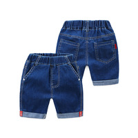 Children denim clothing summer baby stretch waist five shorts jeans casual kids pants alkz252