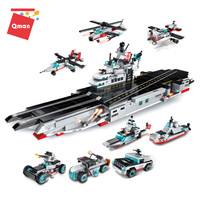 Qman 8 in 1 titanic ship toy armored vessel vehicle educational puzzle toys for kids compatible legoing