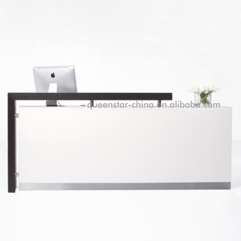 QS-RC02 Modern reception desk white high gloss information desk