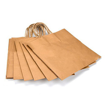 Extripod Eco Friendly take out 8 x4.75 <strong>x10</strong> - white kraft paper <strong>bag</strong> for food packaging