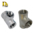 Densen customized Stainless Steel Threaded Equal Tee Forged,stainless steel tee