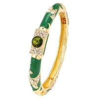 xuping luxury artificial stone bangle plating 24k gold arabic gold jewelry