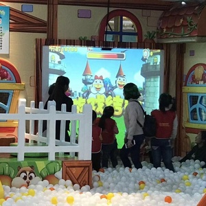 3d interactive wall projection smash ball games with smash ocean ball for indoor playground equipment kids