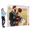 Portable high resolution photography wedding aluminum tube photo booth tension fabric backdrop