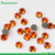 0824W  transfer strass rhinestone korean 3mm (10ss) 500 Gross Sun/Hyancith orange color Round Shape low lead iron on rhinestones