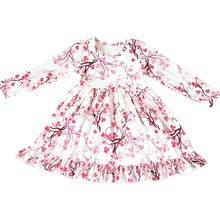 Baby Fall Clothes Ruffle Milk Silk Baby Children's Girls <strong>Dress</strong> Long Sleeve <strong>Girl's</strong> Long <strong>Dress</strong>
