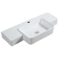 HY457 Big size ceramic face wash basin sanitary ware wholesale price wall hung washbasin sink bowl