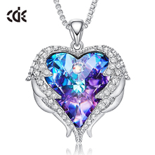 CDE China Personalized Dainty Jewelry Heart Crystal Fashion <strong>Necklaces</strong> For Women 2020