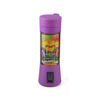 Custom 2 Blad Mes USB Laden Draagbare Plastic Shell Materiaal Fruit Fles Juicer