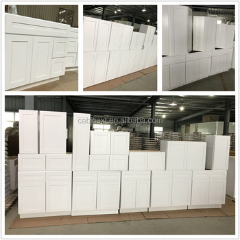 American Project All Wood Kitchen Cabinets White Shaker Style Factory Directly