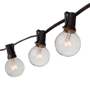 50Ft Globe String Lights with 50 Bulbs Vintage Patio Garden Light string for Deco Outdoor