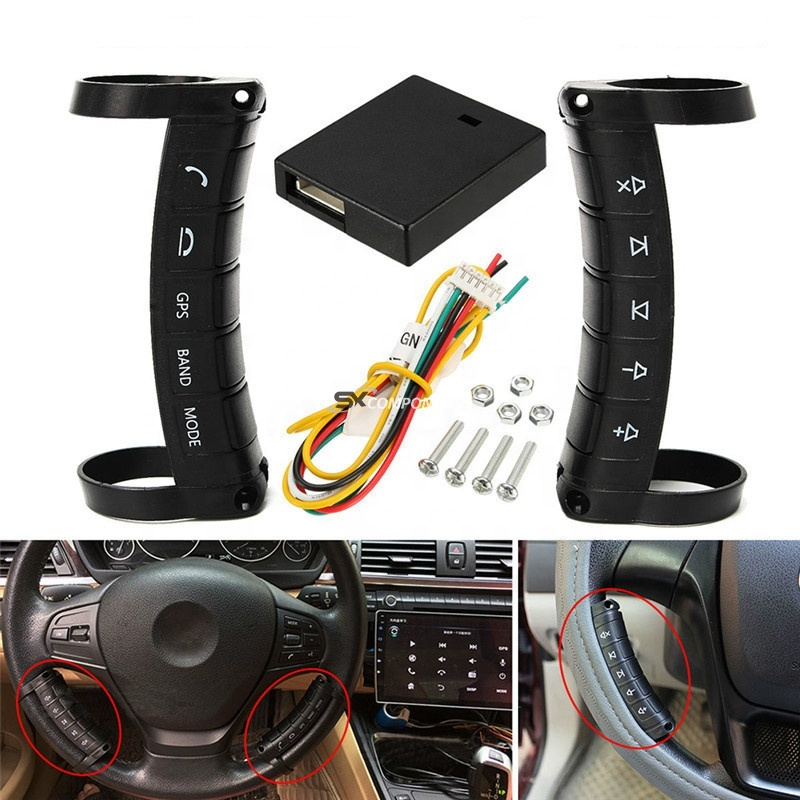 Universal Car Modified Accessories Multi-function Wireless Steering Wheel Controller DVD Navigation Buttons <strong>Remote</strong> Controller