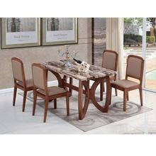 popular Dinning Room Table and chair Set Modern Tempered Wooden Dining Table Set high quality dining room <strong>furniture</strong>