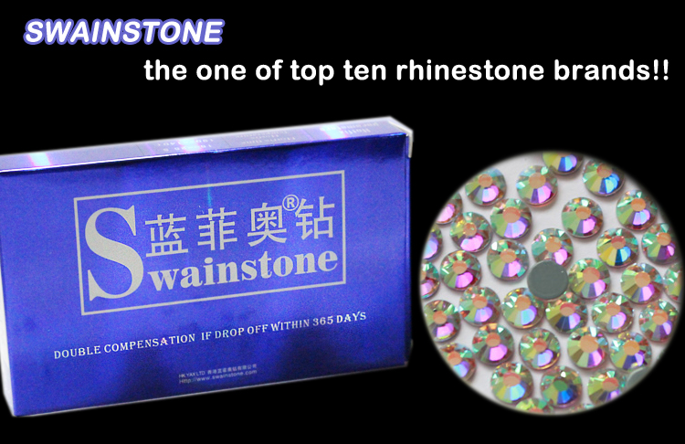 G0830  Free ship!! Swainstone Loose crystal AB SS20 rhinestone 1440pcs flat back transfer crystal stone for wedding dress