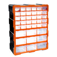 60 drawers functional hang plastic storage cabinet organizer box for screws 475*380*160mm