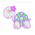 0110W Snake rhinestone design animals hot fix rhinestone motif for pocket