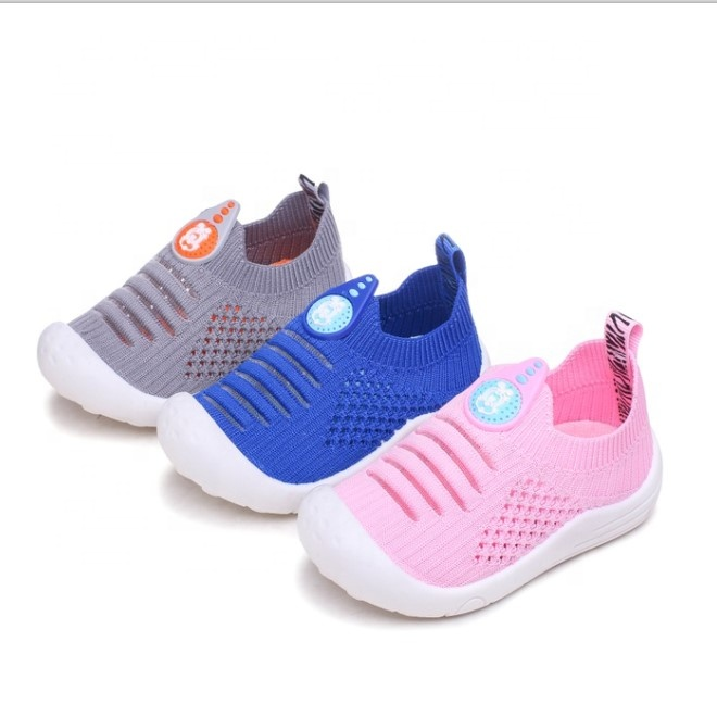 Non-slip elastic welt toe protect breathable soft sole baby color wholesale kids sock mesh crochet children shoes