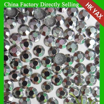 Y0927 China 4A lead free stud aluminum octagon 2mm silver hot fix studs, rhinestuds transfer