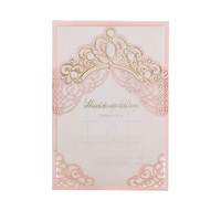 WISHMADE Customised Laser Cut Invitation Card with Envelope for Wedding Quinceanera Baby Shower Anniversary Party Sample
