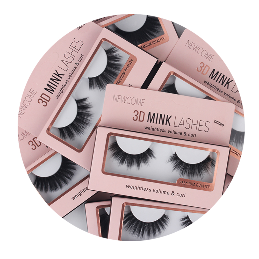 ThinkShow Manufacturer Wholesale Strip 3D Mink Eyelashes Private Label Eye Lashes Packaging