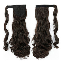 Wavy Curly Wrap Around Pony tails Synthetic Hair Extension wigs