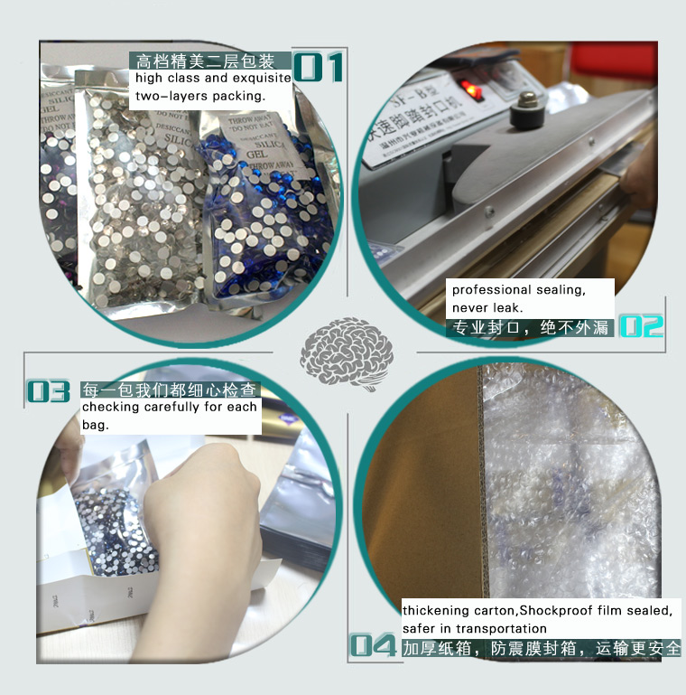 0817 14-16 Cuts Clear / Crystal AB SS16 SS20 Non Hot Fix Rhine stone for Nail Art
