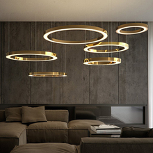 <strong>Modern</strong> nordic pendant lights ceiling led circle adjustable chandelier ring lamp for home Restaurant Hotel Indoor Decorative lamp
