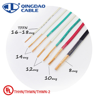 THHN/THWN/THWN-2/THW 600V copper conductor flame proof fire resistant electric cable price Nylon 3.5mm 12 electrical wire