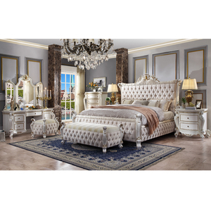 bedroom sets luxury king size European Antique Luxury Rococo Carved furniture wedding bedroom set fancy bedroom set