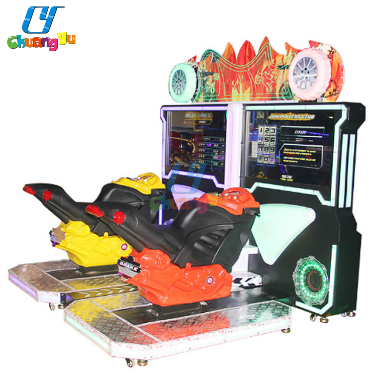Chuangyu Coin Operated Driving Simulator Video Motor GP Video Arcade Game Machine