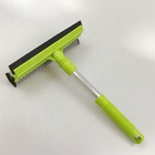 Rubber sponge long handle window squeegee /window cleaner with squeegee/glass squeegee