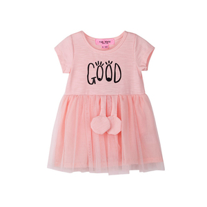 One Year Old Kids Girl Summer Sleeveless Printed Cotton Baby Dress with Underwear